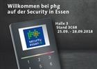 Security in Essen vom 25.09. bis 28.09.2018